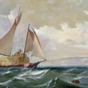 Denny: Hay Schooner, 1871 Poster