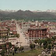 Denver, Colorado, Photochrom By William Poster