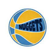 Denver Nuggets Retro Shirt Poster
