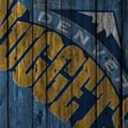 Denver Nuggets Wood Fence Poster