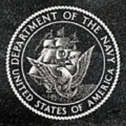 Department Of The Navy Emblem Polished Granite Poster