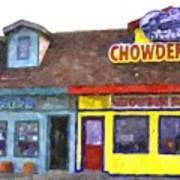 Depoe Bay Oregon - Chowder Bowl Poster