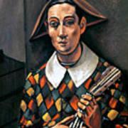 Derain: Harlequin, 1919 Poster