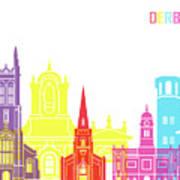 Derby Skyline Pop Poster