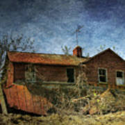 Derelict House Front Poster