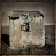 Derelict Hut  Textured Poster by Bernard Jaubert