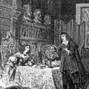 Descartes Teaching Queen Christina, 1649 Poster