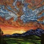 Descent On Mount Diablo Poster