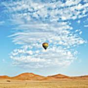 Desert Balloon Poster