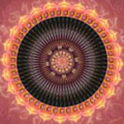 Desert Bloom Mandala Poster