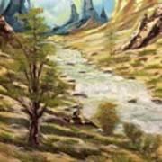Desert River Poster