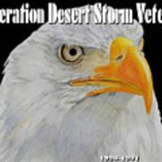 Desert Storm Eagle Poster