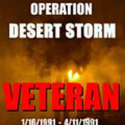 Desert Storm Vet Phone Case Work Poster