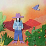 Desert Sunrise By Mary Ellen Palmeri Poster