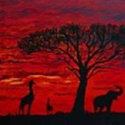 Desert Sunset 3 Poster