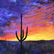 Desert Sunset 4 Poster