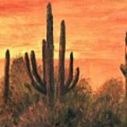 Desert Sunset I Poster