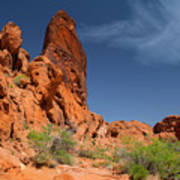 Desert Tower Valley Of Fire Poster