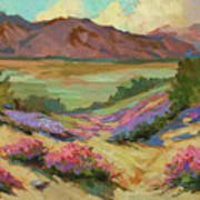 Desert Verbena At Borrego Springs Poster