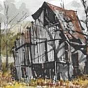 Deserted Barn Poster