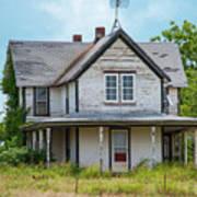 Deserted Oklahoma Farmhouse Poster