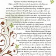 Desiderata Daisy Vines Poster
