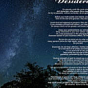 Desiderata - The Milky Way  Poster