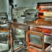 Desk Or Typewriter Poster