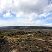 Desolate Lava Field Poster
