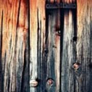 Detail Of An Old Wooden Door Poster