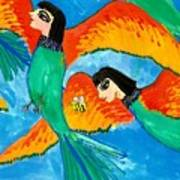 Detail Of Bird People Little Green Bee Eaters Of Upper Egypt 2 Poster