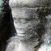 Detail Of Stone Carving Near Angkor Wat, Cambodia Poster