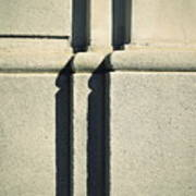 Detail Stone Pillars With Shadow Poster