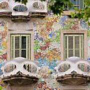 Details Of Casa Batllo In Barcelona 2, Spain Poster