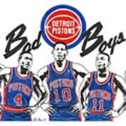Detroit Bad Boys Pistons Poster