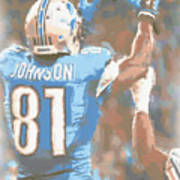 Detroit Lions Calvin Johnson 2 Poster