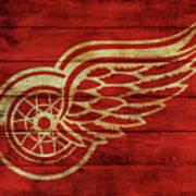 Detroit Redwings Barn Door Poster