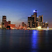 Detroit Skyline 1 Poster by Gordon Dean II