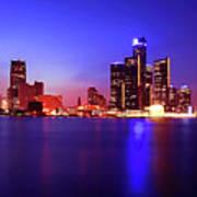 Detroit Skyline 3 Poster