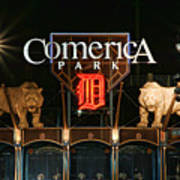 Detroit Tigers - Comerica Park Poster by Gordon Dean II