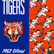 Detroit Tigers 1962 Yearbook Poster