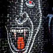 Devil Face Graffiti Poster