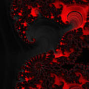 Devil Light   A Fractal Abstract Poster