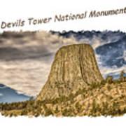 Devils Tower Inspiration 2 Poster