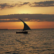 Dhow At Sunset Poster