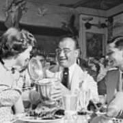 Diamond Jim Moran, Entertaining Guests At His Restaurant In New  Poster