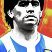 Diego Maradona By Nixo Poster