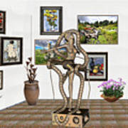 Digital Exhibition _ Modern  Statue   Of Dancing Girl Poster