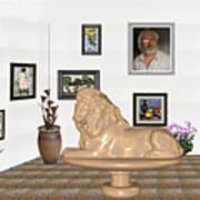 Digital Exhibition _  Sculpture Of A Lion Poster