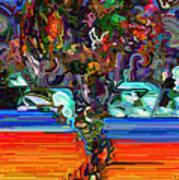 Digital Flowers Poster
